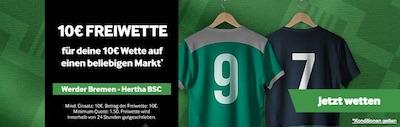 Werder Bremen gegen Hertha BSC Freebet Promo