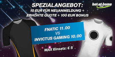 Bet-at-home LoL WM Finale Quotenboost