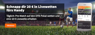 Betsson Freebet Aktion zum DFB Pokal
