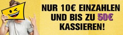 Bis 16.10.: Bis zu 50€ Guthaben zusätzlich zum Interwetten Bonus