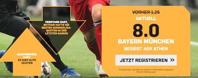 AEK Athen gegen Bayern München Betfair Quotenboost