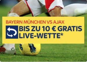 Ajax gegen Bayern Live Freiwette