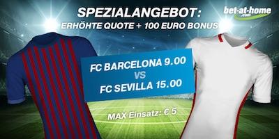 Bet-at-home Quotenboost zu Sevilla - Barcelona