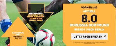 Borussia Dortmund - Union Berlin Quotenboost bei Betfair