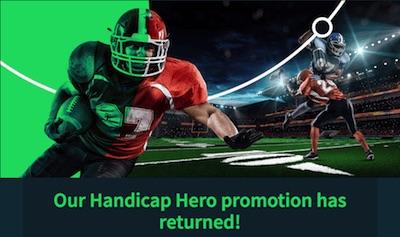 Handicap Hero: Sportsbet.io Aktion zur NFL