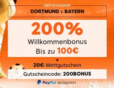 888sport Angebot für BVB vs FCB