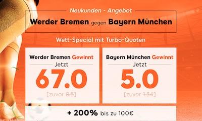 888sport Quotenboost zu Werder Bremen gegen Bayern München