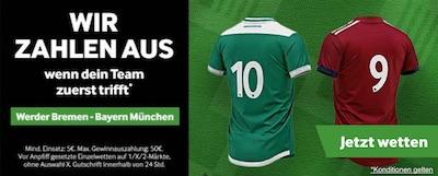Betway Promo zum Spiel Bremen gegen Bayern