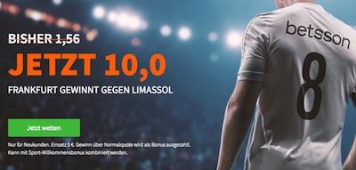Quoten Promo zu Limassol-Frankfurt (Betsson)