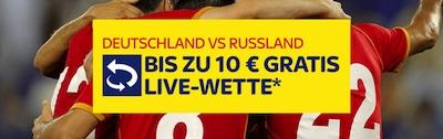 10€ Live Gratiswette zu GER-RUS bei SkyBet