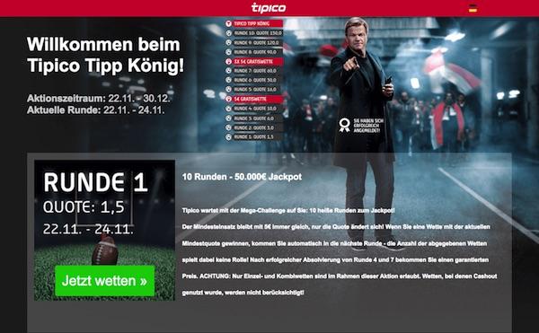 Tipico Tipp König werden und 50.000€ gewinnen