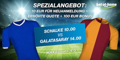 Bet-at-home: Quote 10.0 auf Schalke oder 14.0 auf Galatasaray