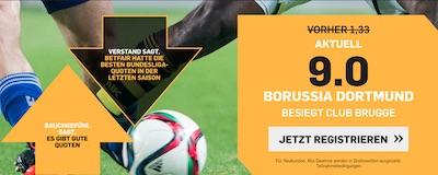BVB gegen Club Brügge Quotenboost bei Betfair
