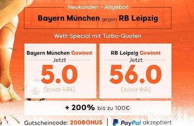 Bayern gegen Leipzig Quitenboost bei 888sport