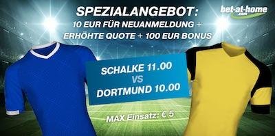 Schalke gegen BVB Quotenboost bei Bet-at-Home