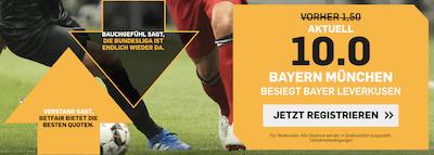 Betfair Quotenboost Bayern München Leverkusen