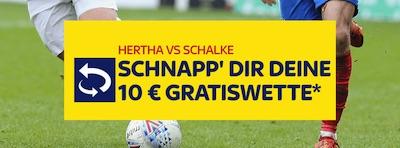 10€ Freiwette bei Hertha-Schalke wartet auf dich (SkyBet)