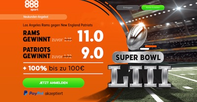 888sport hat ein Spezial-Angebot zur Super Bowl LIII