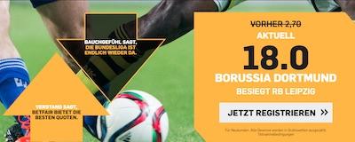 BVB Leipzig Quotenboost zu Betfair