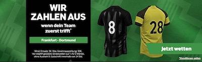 Eintracht Frankfurt vs. BVB Promo bei Betway