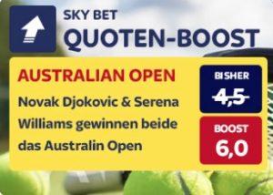 Skybet Quotenboost Djokovic Williams Australian Open
