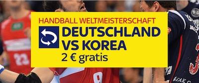 2€ Freebet von SkyBet zu Deutschland vs Korea (Handball)
