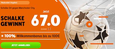 888sport City Schalke boosted odds