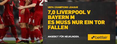 Betfair Bayern Liverpool Topquote