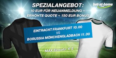 Bet-at-home: Quote 10.0 auf Frankfurt oder 11.0 auf Gladbach
