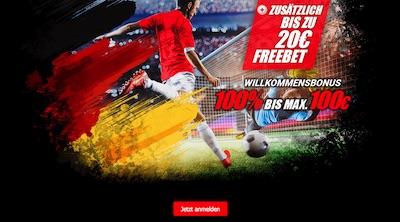Bis zu 20€ Freebet für Neukunden von Winmasters