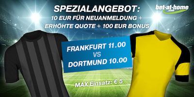 Eintracht Frankfurt gegen Borussia Dortmund Quotenboost bei Bet-at-home