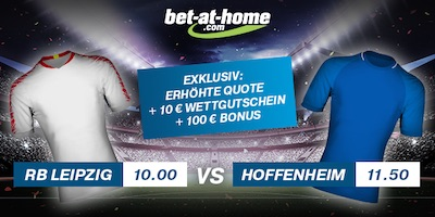 RB Leipzig vs. Hoffenheim Quotenboost bei Bet-at-Home