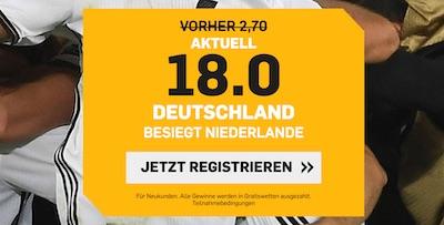 Betfair Boost Niederlande vs Deutschland