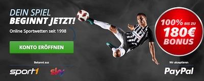 180€ Bonus bei Sportingbet