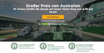 Grand Prix Australien Boost Mr Green