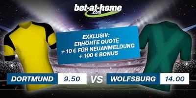 BVB gegen Wolfsburg Quotenboost bei Bet-at-Home