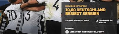 Deutschland - Serbien Quotenboost bei Betfair