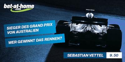 Quotenboost F1 Melbourne Vettel