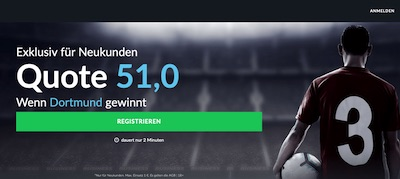 Für Neukunden von BetVictor: 51.0 auf BVB besiegt Schalke