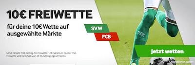 Bayern Bremen DFB pokal freiwette