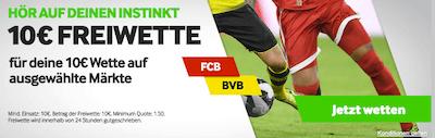 Gratiswette Betway Bayern BVB