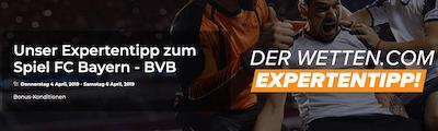 Wetten.com Wetttipp Bayern BVB