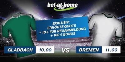 Bet at home: Top Quoten zu Gladbach-Bremen