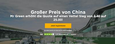 Mr. Green Formel 1 Vettel China