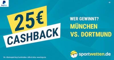 Cashback Promo zu Bayern vs. BVB am 6.4.2019