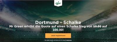 Mr. Green Quotenboost zu BVB vs. Schalke 04