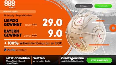 888sport: 29.0 auf RBL, 9.0 auf Bayern