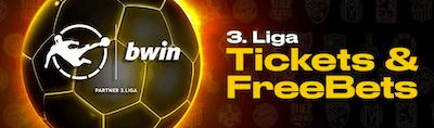 Bwin gratis Tickets und Freebets für die dritte Liga