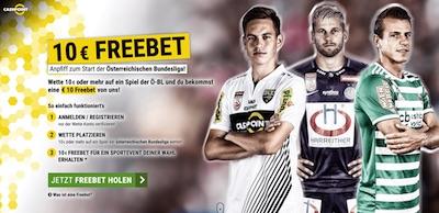 10€ Freiwette zum Bundesliga Start in Österreich
