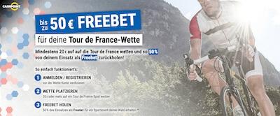 Freiwetten Angebot zur Tour de France bei Cashpoint